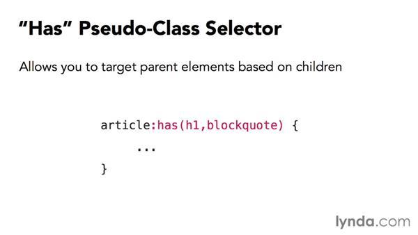 What's next in selectors?: CSS: Selectors