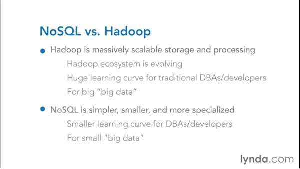 Choosing Hadoop over NoSQL: NoSQL for SQL Professionals