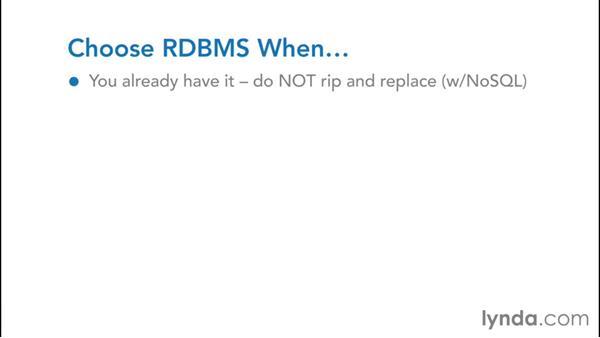 Cloud RDBMS: NoSQL for SQL Professionals
