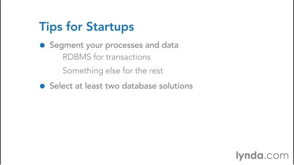 Database selection tips for startups: NoSQL for SQL Professionals