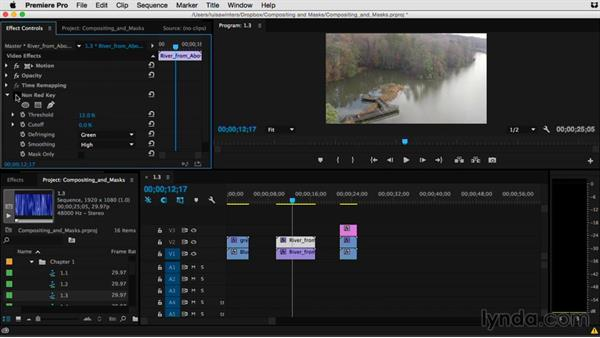 Keying and matting, what's the difference?: Premiere Pro Guru: Compositing and Masks