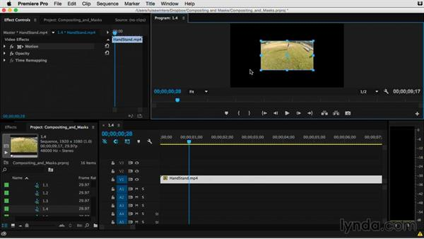 Creating and modifying alpha channels: Premiere Pro Guru: Compositing and Masks