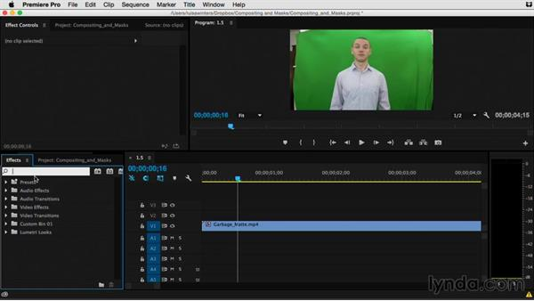 Using garbage mattes: Premiere Pro Guru: Compositing and Masks