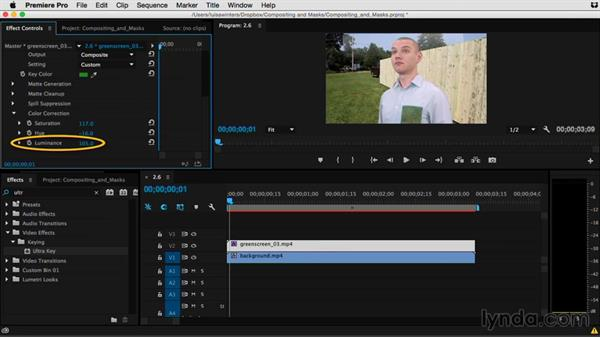 Tips for better keying: Premiere Pro Guru: Compositing and Masks