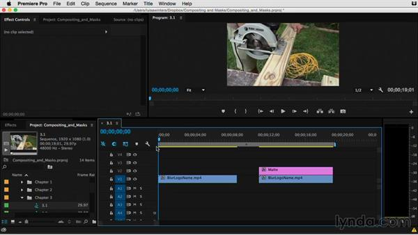 What's the difference between track mattes and masks?: Premiere Pro Guru: Compositing and Masks