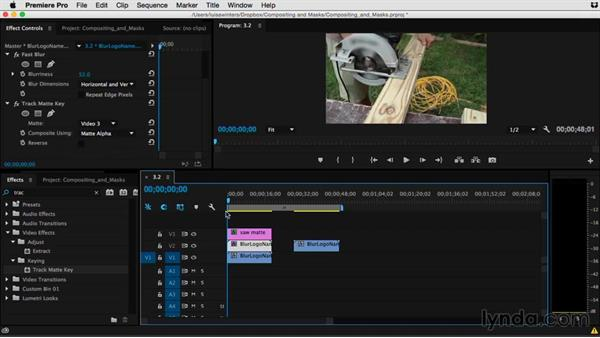 Creating a matte to fit your footage: Premiere Pro Guru: Compositing and Masks