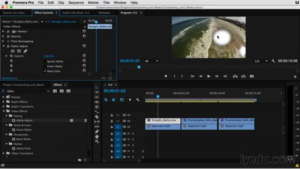 Using the Alpha Adjust effect: Premiere Pro Guru: Compositing and Masks