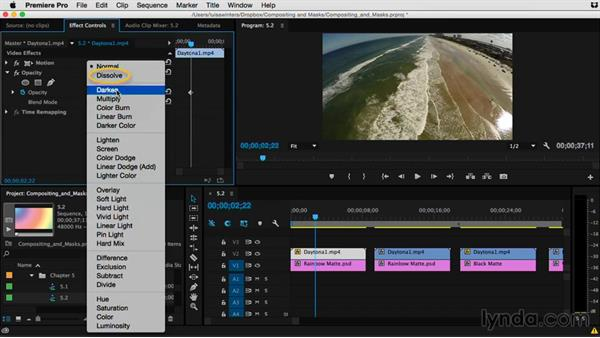 Understanding the Normal category: Premiere Pro Guru: Compositing and Masks