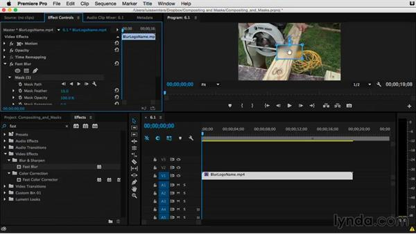 Understanding effects that use masks: Premiere Pro Guru: Compositing and Masks
