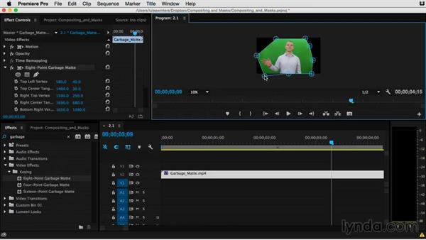 Goodbye: Premiere Pro Guru: Compositing and Masks