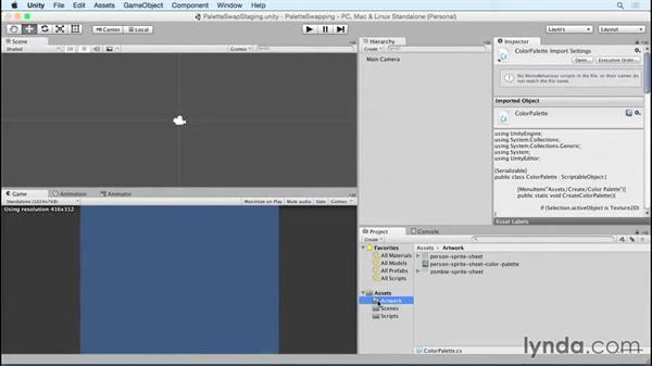 Welcome: Unity 5 2D: Emulate Palette Swapping for Sprites