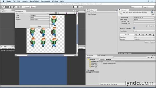 Importing artwork: Unity 5 2D: Emulate Palette Swapping for Sprites