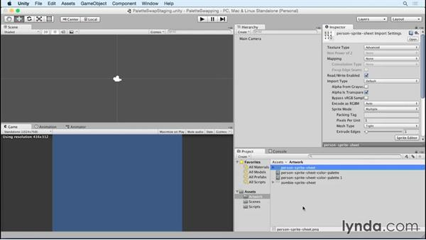 Saving scriptable object data: Unity 5 2D: Emulate Palette Swapping for Sprites