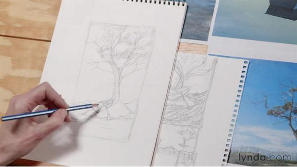Sketching a composition: Artist at Work: Developing a Composition