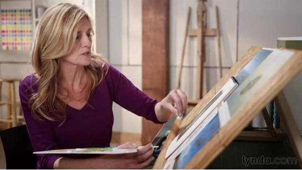 Navigating a color challenge: Artist at Work: Developing a Composition