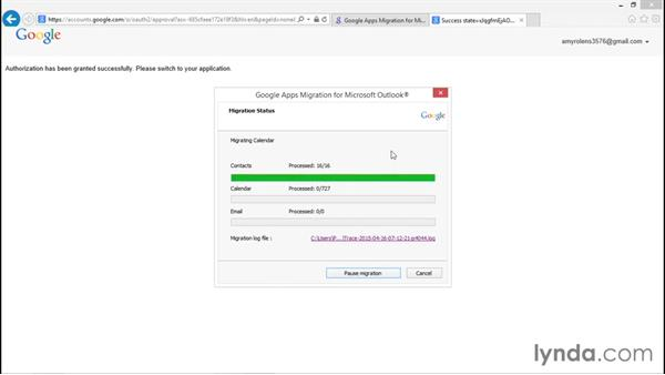 Running the Google Apps Migration tool: Migrating from Office 2013 to Google Apps