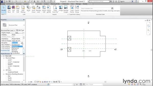Linking architecture: Revit Structure 2016 Essential Training