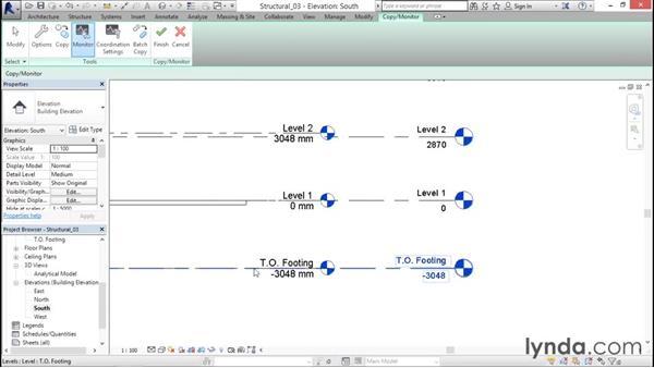 Using Copy/Monitor: Revit Structure 2016 Essential Training