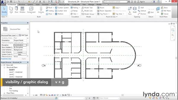 Setting up structural views: Revit Structure 2016 Essential Training