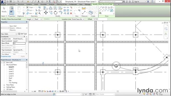 Creating a CMU elevator shaft: Revit Structure 2016 Essential Training