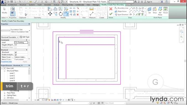 Foundation slabs: Revit Structure 2016 Essential Training