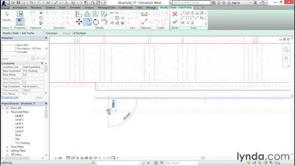 Adding step footings: Revit Structure 2016 Essential Training