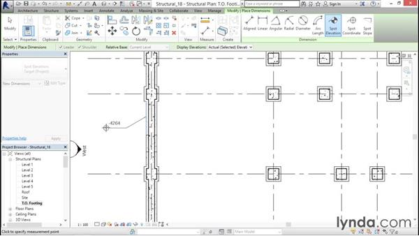 Tagging a step footing: Revit Structure 2016 Essential Training