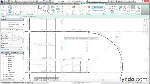 Adding beam systems: Revit Structure 2016 Essential Training