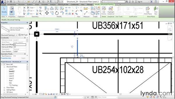 Modifying beam systems: Revit Structure 2016 Essential Training