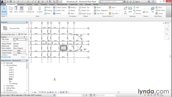 Altering beam elevations: Revit Structure 2016 Essential Training