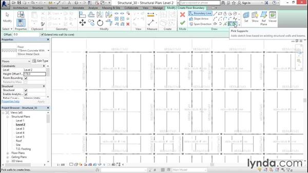 Adding a concrete floor with steel decking: Revit Structure 2016 Essential Training