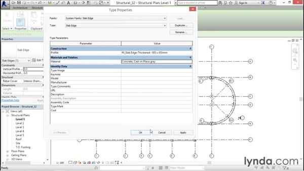Creating thickened slabs: Revit Structure 2016 Essential Training