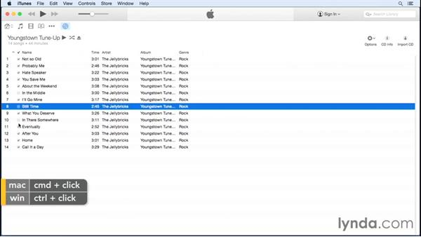 Importing from a CD: Up and Running with iTunes 12