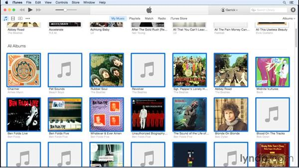 Finding and adding album artwork: Up and Running with iTunes 12