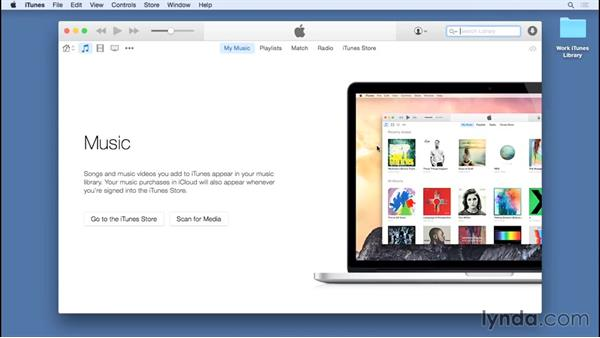 Managing multiple libraries: Up and Running with iTunes 12