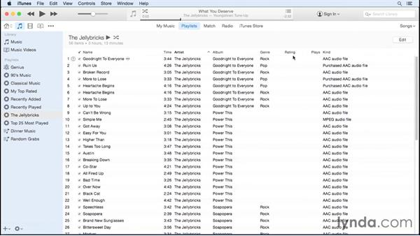 Creating Smart playlists: Up and Running with iTunes 12