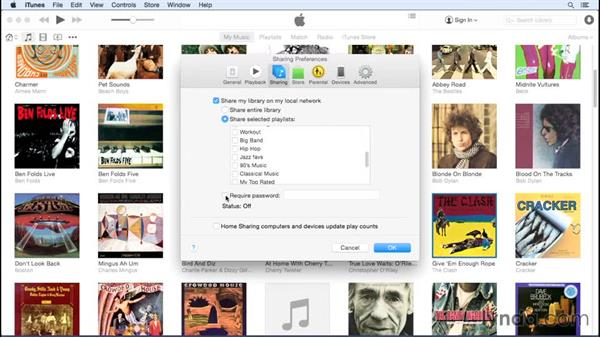 Sharing over a network: Up and Running with iTunes 12