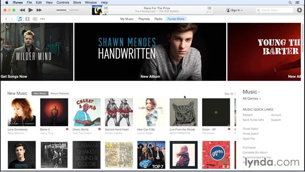 Store overview: Up and Running with iTunes 12