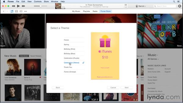 Purchasing gifts for others: Up and Running with iTunes 12