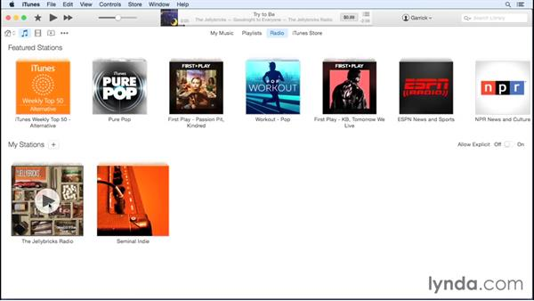 iTunes Radio: Up and Running with iTunes 12
