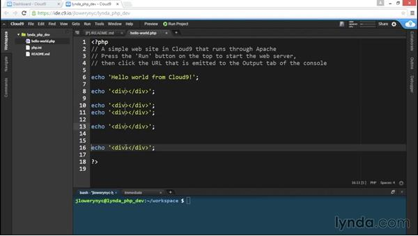Online coding with Cloud9: Choosing a PHP Editor