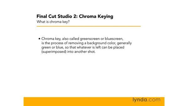 What is chroma key?: Final Cut Studio 2: Chroma Keying