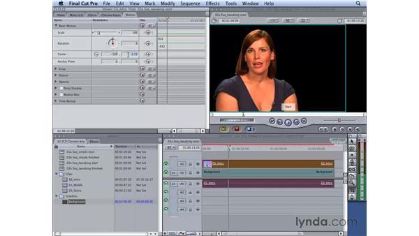 Tweaking the key: Final Cut Studio 2: Chroma Keying