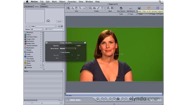Creating a simple key in Motion: Final Cut Studio 2: Chroma Keying