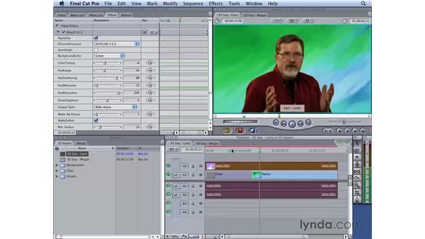 Using Oak Tree vKey: Final Cut Studio 2: Chroma Keying