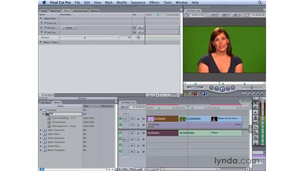 Working with filters: Final Cut Studio 2: Chroma Keying