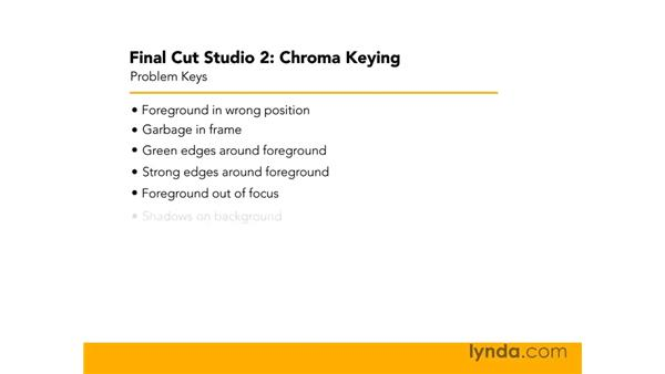 Introduction to problem keys: Final Cut Studio 2: Chroma Keying