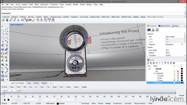 Introducing the proxy: Animation with Rhino and Bongo