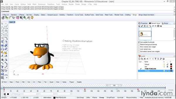 Creating position animation: Animation with Rhino and Bongo