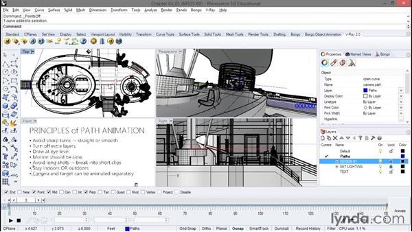 Principles of path animation: Animation with Rhino and Bongo